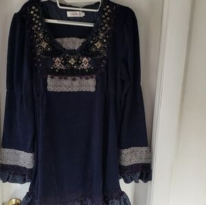 NWT Simply Couture Navy Tunic/Dress